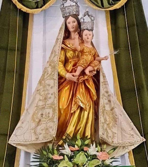 Festa Maria Santissima di Valverde, esposto il simulacro